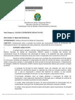 Nota técnica Senacon