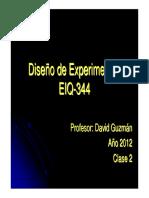 Diseño de Experimentos clase 2