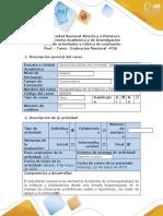Guía de actividades y rúbrica de evaluación -Post – Tarea - Evaluación Nacional