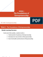 WEEK1-2 - Foundations of Entrepreneurship