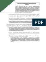 Protocolo COVID-19 para proveedores