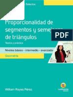 Proporcionalidad de Segmentos y Semejanza de Triangulos- Temas Selectos Geometria Lumbrerass