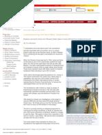Panama Canal Lumber Jacking by Tom Nicholson