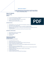 SAP Resume Sample