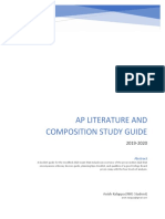 AP Literature and Composition Study Guide (Revised for 2020 Exam)