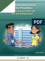Recomendaciones para empreseas COVID-19