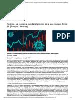Análisis – La economía mundial al principio de la gran recesión Covid-19. [François Chesnais] – Correspondencia de Prensa