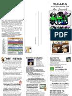 art newsletter 6th grade-