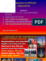 PPT 5 LANGAUGES in CONTEMPORARY WORLD