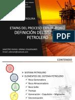 Etapas del proceso exploratorio - Analisis Sistema Petrolero
