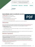 Generalidades sobre la ventilación mecánica - Cuidados críticos - Manual MSD versión para profesionales