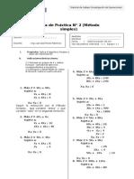 GUÍA PRÁCTICA N° 2 - Prog.Lineal. Método simplex