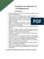 Las Buenas Prácticas de Evaluación y Retroalimentación