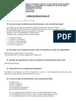Lista de exercícios 3