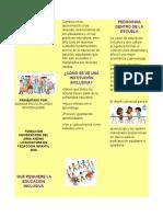 folleto aulas inclusivas