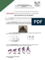 GUÍA DE APRENDIZAJE  N° 1 6° básico TECNOLOGÍA
