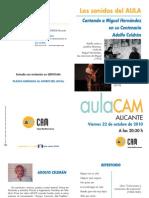 Cantando a Miguel Hernández Aula Cam Alicante Obra Social Caja Mediterráneo