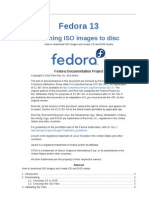 Fedora 13 Burning ISO Images to Disc en US