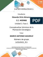 Unidad 1 Fase 1 _Conceptualizar términos de la Planeación Estratégica_ Eduardo Ortiz Almanza_102002_31