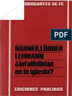 RAHNER, K. - LOHRER, K, - LEHMANN, M. - Infalibilidad en la iglesia. Respuesta a Hans Kung - Paulinas, 1971.pdf