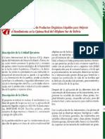 Aplicación Radicular de Prodúctos Orgánicos Líquidos Para Mejorar El Rendimiento de La Quinua Real Del ALtiplano Sur de Bolivia
