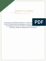 du Dahir n° 1-18-26 du 2 shaaban 1439 (19 avril 2018) portant promulgation de la loi n° 73-17 modifiant et remplaçant le livre V de la loi n° 15.95 formant code de commerce relatif aux difficultés de l'entreprise