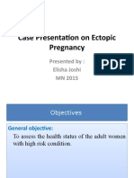 Case Presentation on Ectopic Pregnancy