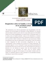 Livio Melina, Diagnóstico sobre la familia y el respeto a la vida