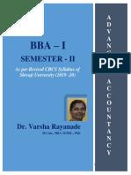 BBA I SEM II Advanced Accountancy