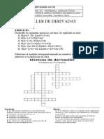TALLER DE DERIVADAS