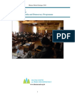 Bhutan Media Dialogue- Report