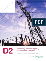D2  Signalling and Intertripping in Protection Schemes