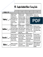 graphic organizer - system of equations rubric