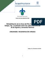 Urbanismo Regeneración - Rio Carneros Xalapa