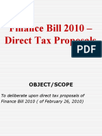 Finance Bill 2010