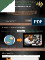 Escenarios políticos, económicos, financieros en salud 2020