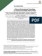 Interactive Three-Dimensional TeachingModels of the Female and Male Pelvic Floor 2020