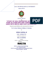 STUDY OF SOIL PROPERTIES WITH SILICA FUME AS STABLIZER AND COMPARING THE SAME WITH RBI-81 AND COST ESTIMATION
