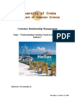 Paper Understanding Customer Needs in the Tourism Industry Group D1l
