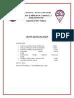 VENTA ESPECIALIZADA TEORÍA UNIDAD 1 A 4