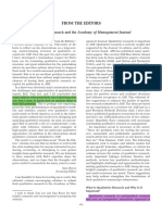Qualitative Research and the Academy of Management Journal