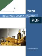 recetario italiana 2020