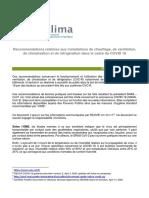 Recommandations UNICLIMA Covid19 V2