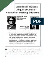 Precast Vierendeel Trusses Provide Unique Structural Facade for Parking Structure