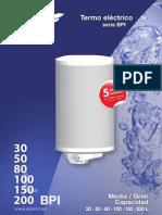 Termo eléctrico serie BPI de Aparici.