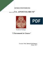 Dispensa Sacramenti in Genere BIS