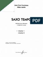 Fourmeau _ Martin - Saxo Tempo - Volume 1 [Alto Sax]