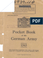 Pocket Book of the German Army 1943