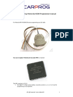 CARPROG Motorola HC08 programmer manual