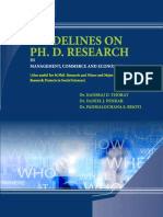 Guidelines on Ph.D. Research
